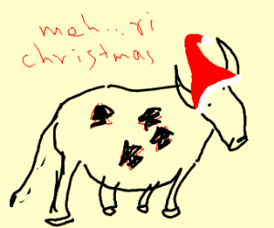 A christmassy cow