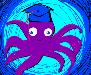 Octopus graduating