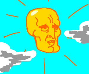 Handsome squidward is the sun