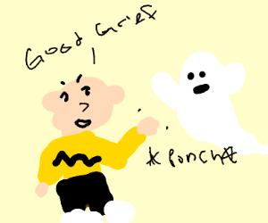 Charlie Brown is busting ghost
