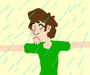 Shaggy caught in the rain