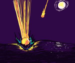 Meteors crashing in Ocean