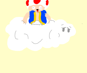 Toad playing in the Clouds