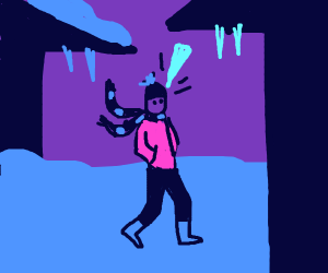 man getting hit in the face with a icicle