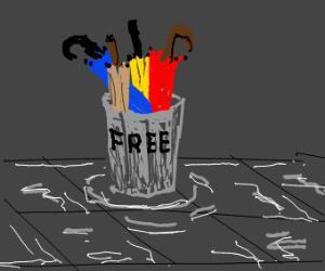 bowl with free umbrellas