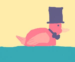 Fancy rubby ducky rockin bowtie & top hat