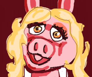 Pig does makeup