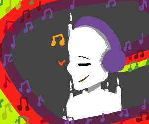 ghost with colourful music