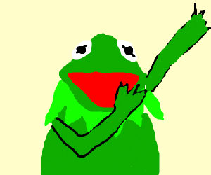 Kermit the frog hitting the dab