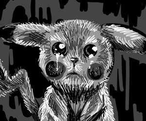 sobbing/crying pikachu