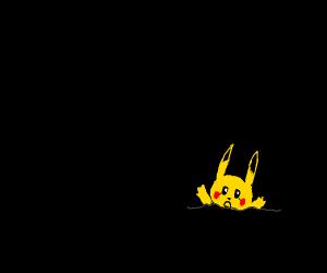 Pikachu drowns in tar