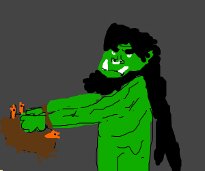 Orc breaking a Nest
