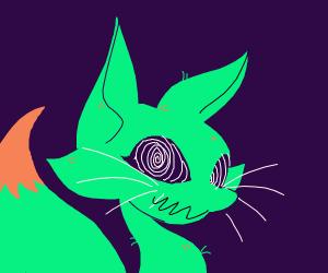 spooky green fox?