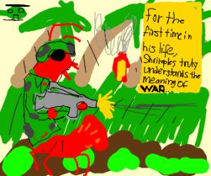 A shrimp soldier