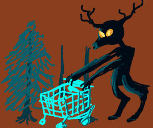 Wendigo going shopping in the woods