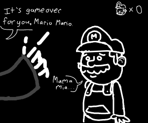 Death confronts Mario