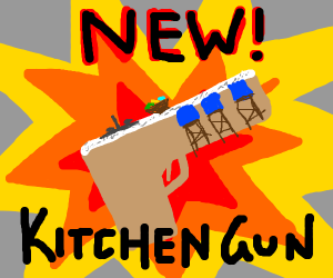 new! kitchen gun