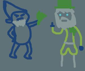A Bar Fight Between Dwarves And leprechauns