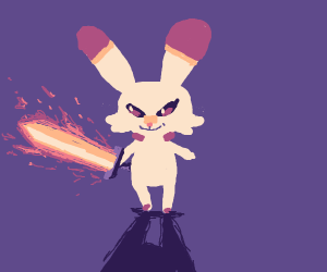 scorbunny has a sword help
