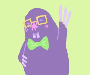 A nerdy mole