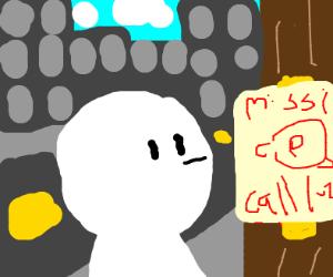 Missing snail poster