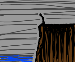 Guy on the edge of a cliff
