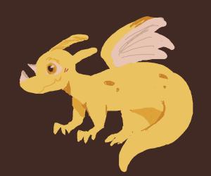 Cute little yellow dragon pet