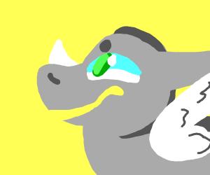 A flying rhino
