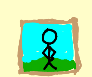 Stick dude painting