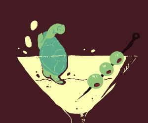 Turtle in a martini