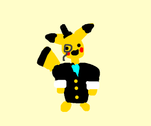 Rich Pikachu with Broad Shoulders