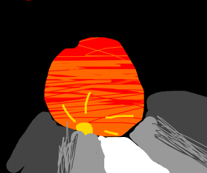 Sunset from a hole