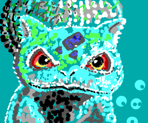 Bulbasaur made out of dots