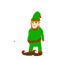 orange haired green eyed elf