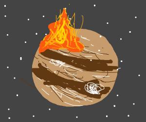 A fire on jupiter