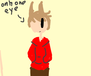 Tord from Eddsworld but he only has one eye