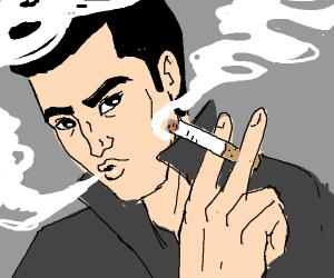 some guy smoking