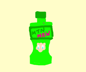 Mew flavored Mountain Dew
