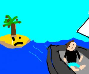 Island cries when man leaves