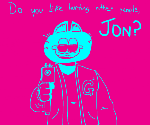 Hotline Miami and Garfield crossover