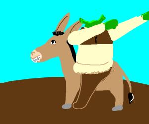 Shrek dabs on donkey