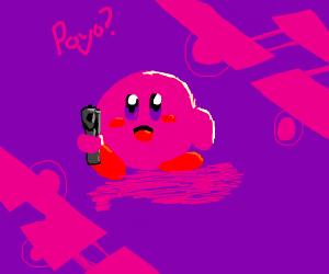 Kirby steals Joker's gun