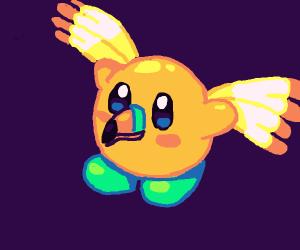 Kirby-bird hybrid.