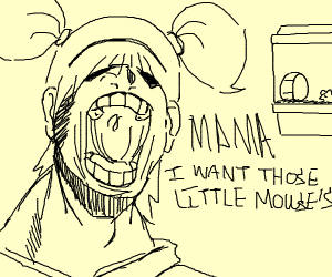 """girl says """"MOM I WANT THOSE LITTLE MOUSE'S"""""""