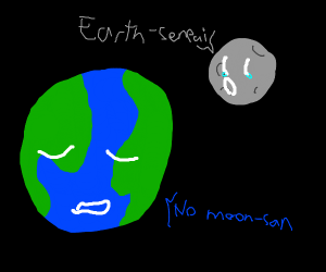 The earth rejects the moon