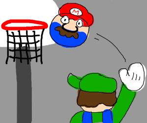 Luigi shoots Mario oh no