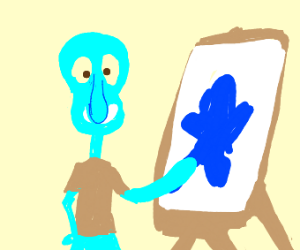 Squidward's painting