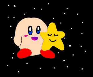 Kirby with a sleeping star