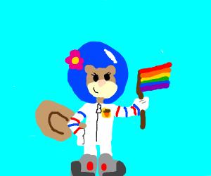 sandy cheeks said gay rights!