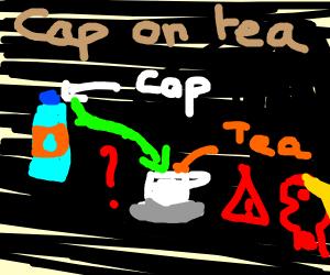 Bottle Cap in a Teacup
